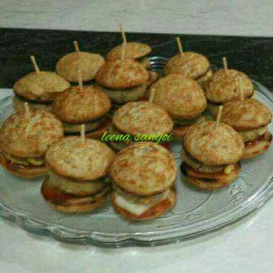 Photo of Oats Appam Baby Burger with Corn Aloo Tikki.... by Leena Sangoi at BetterButter