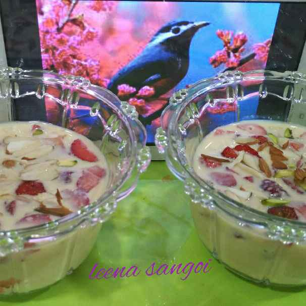 Photo of Strawberry Basundi.. by Leena Sangoi at BetterButter