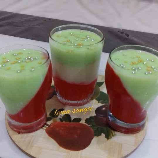 Photo of Khus custard strawberry jello pudding.. by Leena Sangoi at BetterButter