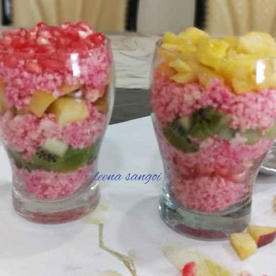 Photo of Layered mixed fruit rose sandesh by Leena Sangoi at BetterButter