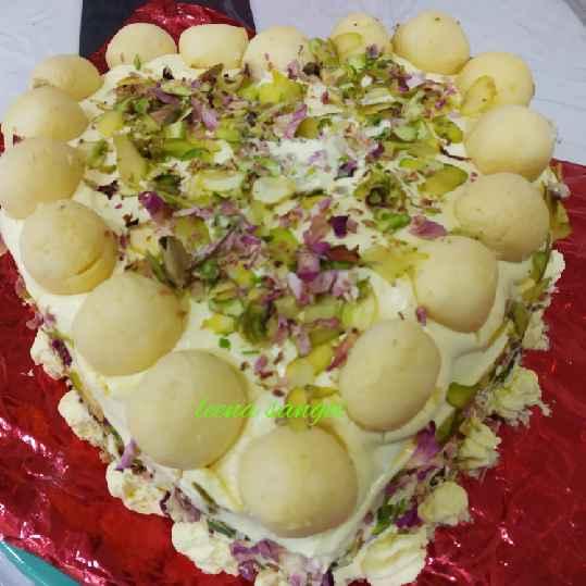 How to make રસમલાઈ કેક