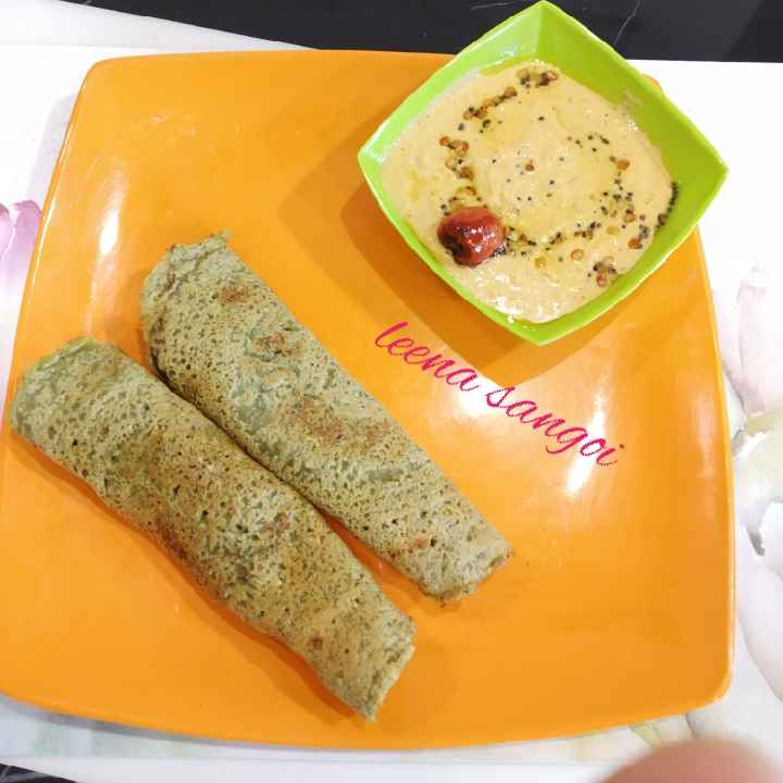 Photo of Sprouted whole Moong dosa by Leena Sangoi at BetterButter