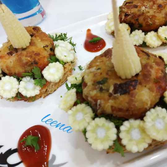 Photo of Soya Chunks vegetable Cutlet by Leena Sangoi at BetterButter