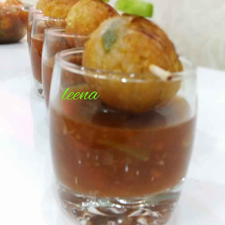 Photo of Rice Balls Manchurian Shots by Leena Sangoi at BetterButter