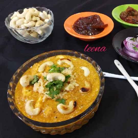 Photo of khoya kaju Masala curry subji by Leena Sangoi at BetterButter