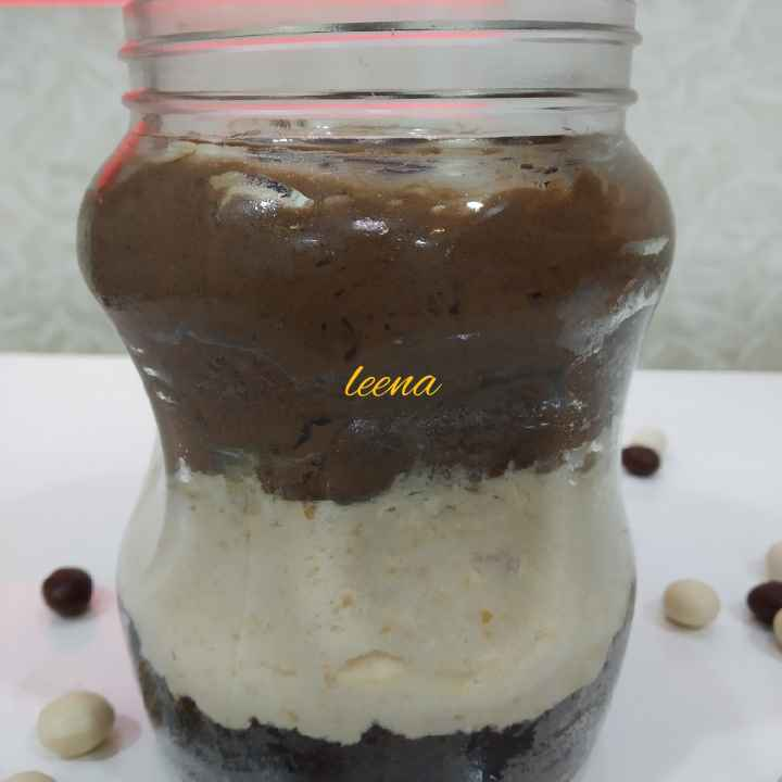 Photo of Chocolate hazelnut Caramel Mousse in jar by Leena Sangoi at BetterButter