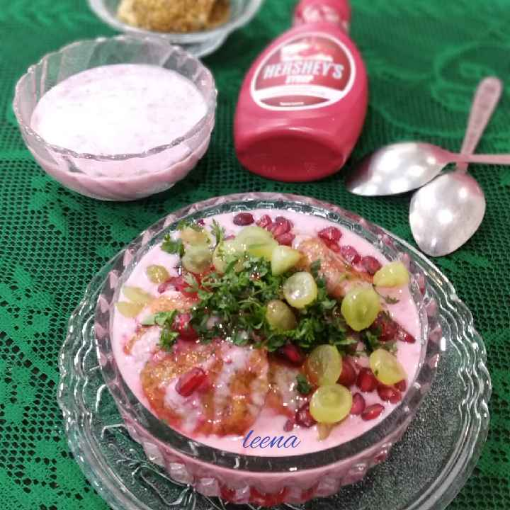 How to make Strawberry Flavored Dahi Vada