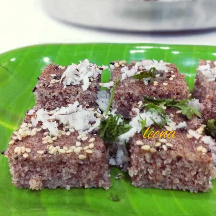 Photo of Instant Ragi dhokla by Leena Sangoi at BetterButter