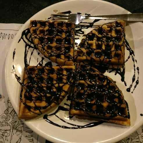 How to make chocolate waffle