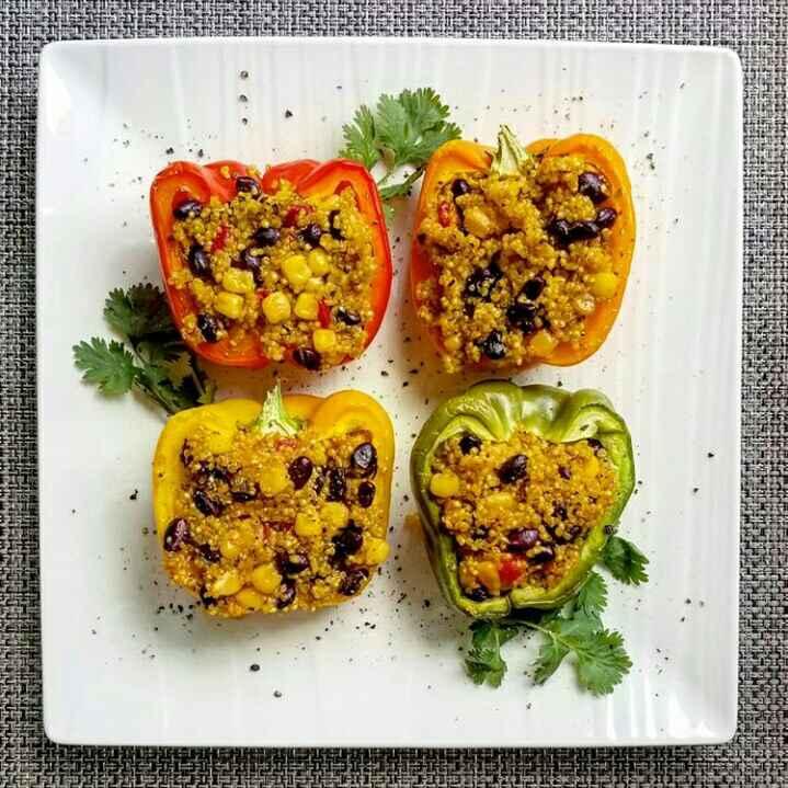 How to make Quinoa Stuffed Bell pepper