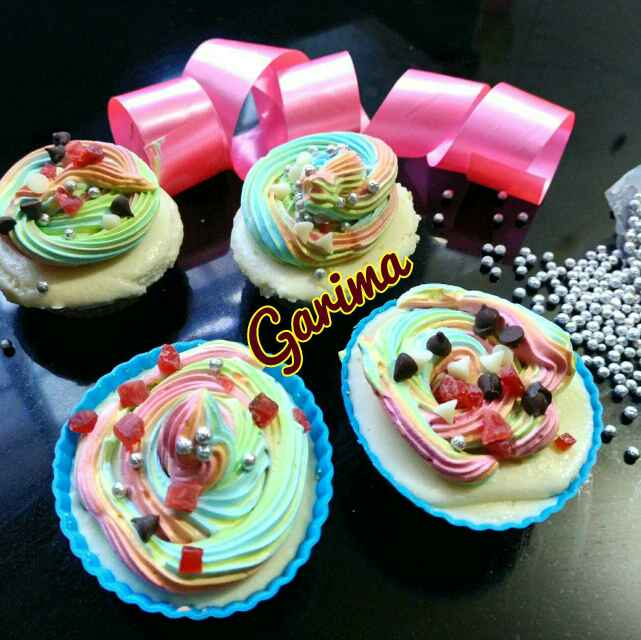 Photo of Rainbow Cupcake by Lion Garima at BetterButter