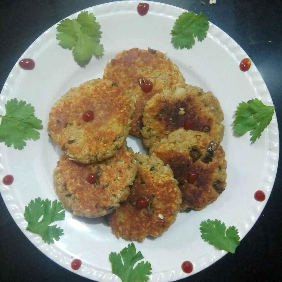 How to make Paneer oats tikki