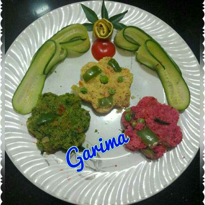 Photo of Tri colour veggie upma by Lion Garima at BetterButter