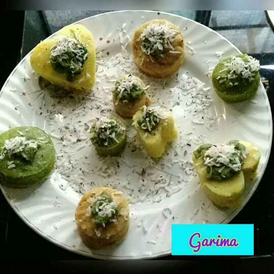Photo of Tri colour moong dal dhokla by Lion Garima at BetterButter