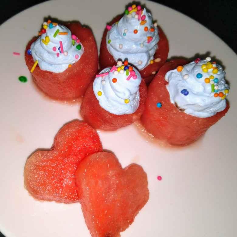 Photo of Mini watermelon cakes by litushree Pradhan at BetterButter