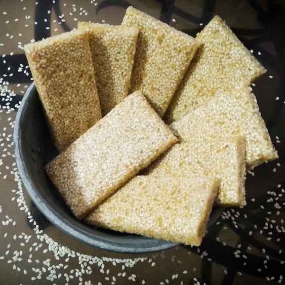 Photo of Crunchy sesame caramel bars by Lopamudra Mukherjee at BetterButter