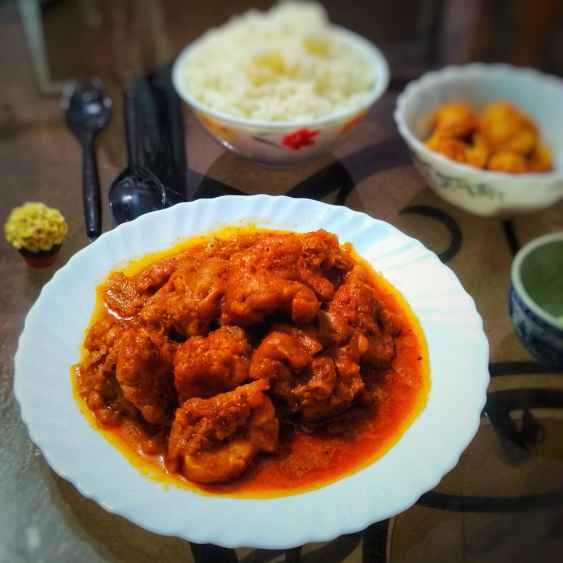 Photo of Spicy chicken pakora curry by Lopamudra Mukherjee at BetterButter