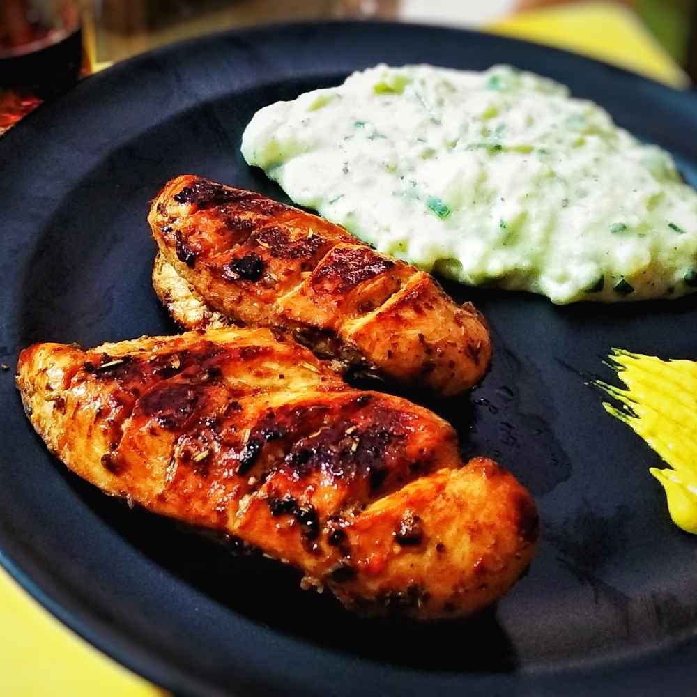 Photo of Chicken steak with cheesy mashed potato by Lopamudra Mukherjee at BetterButter