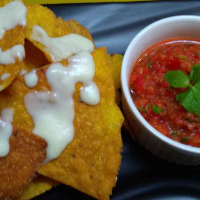Photo of Nacho's chips with salasa by Madhavi Modha at BetterButter