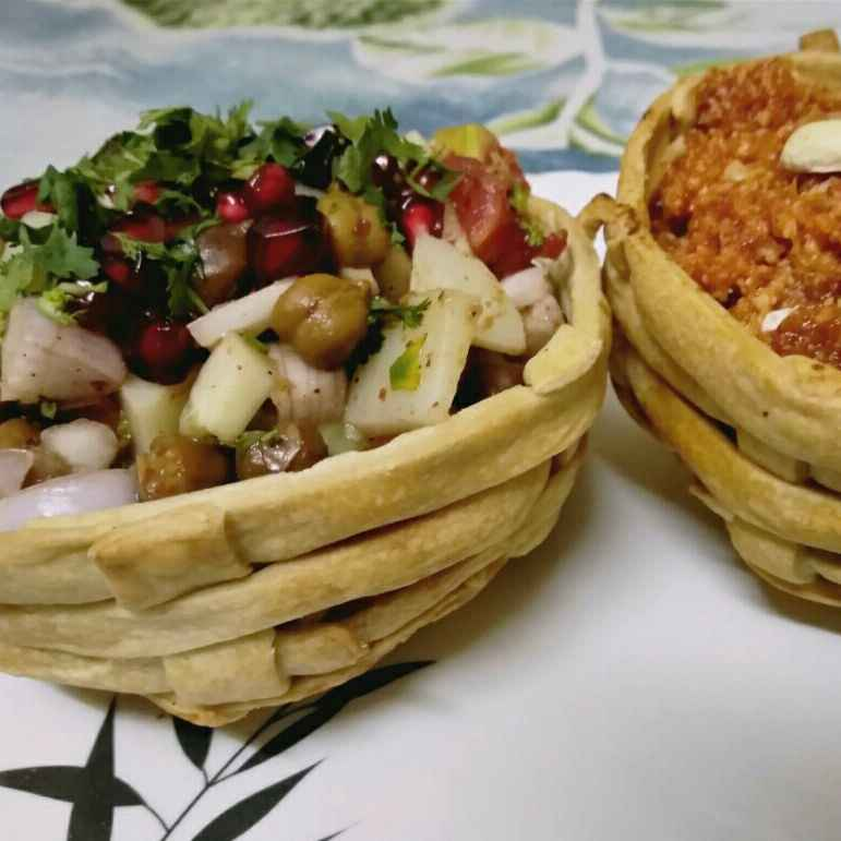 How to make Channa Chaat in Basket