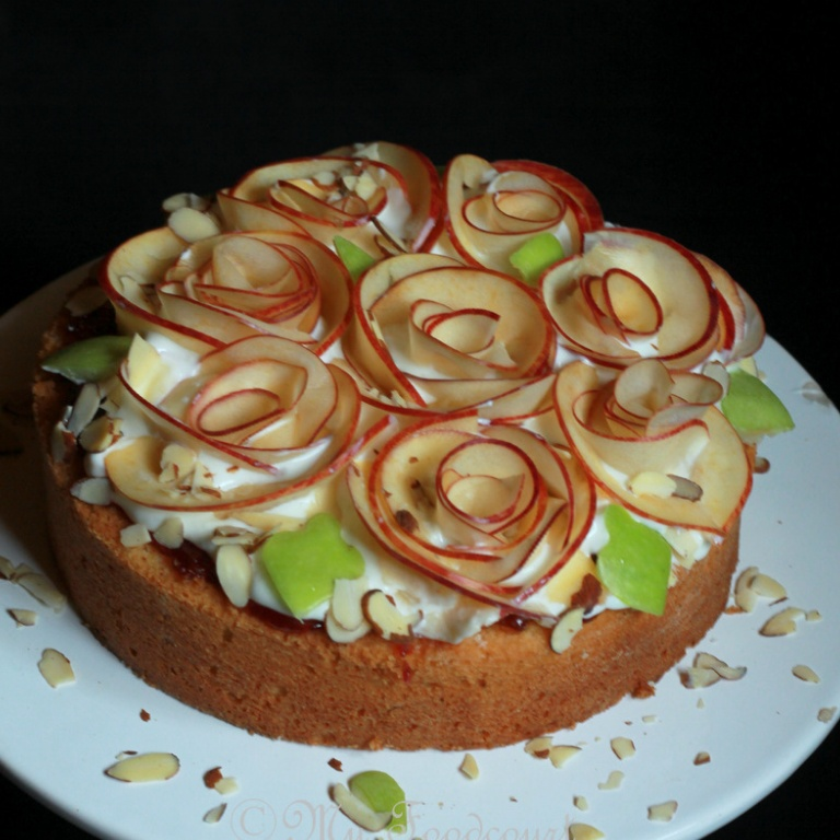 How to make Apple Rose Bouquet Cake
