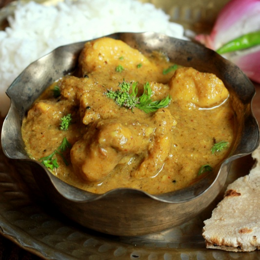 Photo of Dubuk Vade (Gram flour Dumplings in a spicy Kala Masala gravy) by Madhuli Ajay at BetterButter