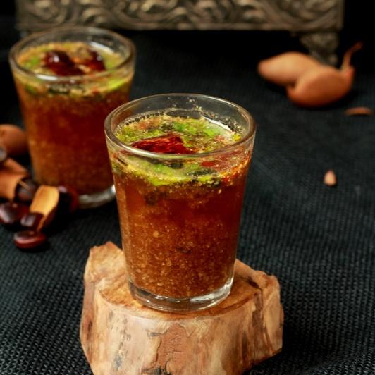 How to make Chinchecha Saar (Maharashtrian Style Cold Tamarind Soup )
