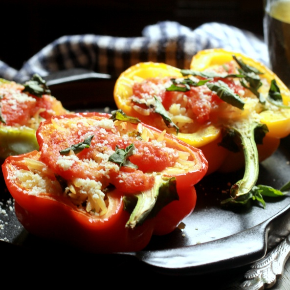 Photo of Orzo stuffed colored Bell Peppers by Madhuli Ajay at BetterButter