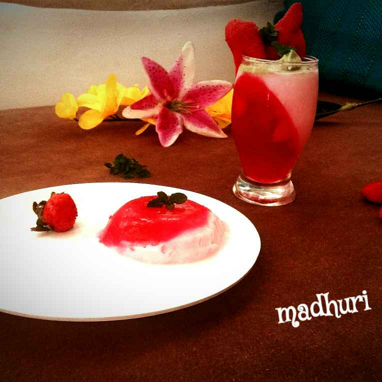 How to make स्ट्रॉबेरी पन्ना कोटा