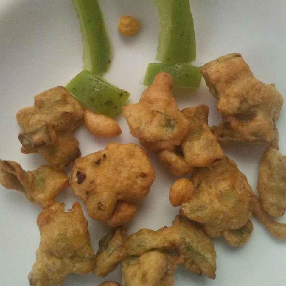 How to make குட மிளகாய் பக்கோடா