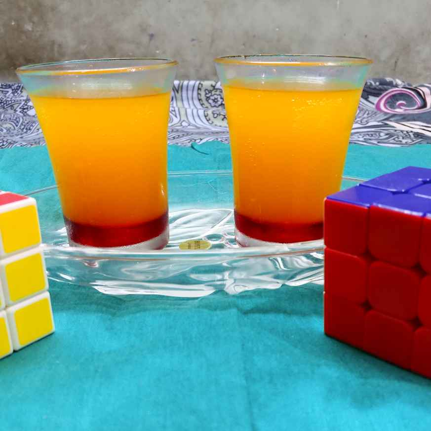 Photo of sunrise mocktail by Mahek Naaz at BetterButter