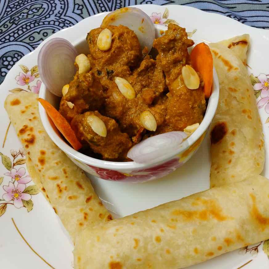 How to make বাদামী চিকেন কোরমা