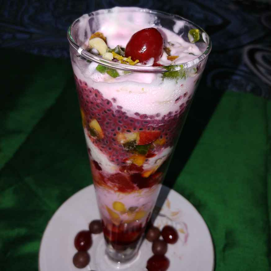Photo of fruit with ice cream / gadbad ice cream by Mahek Naaz at BetterButter