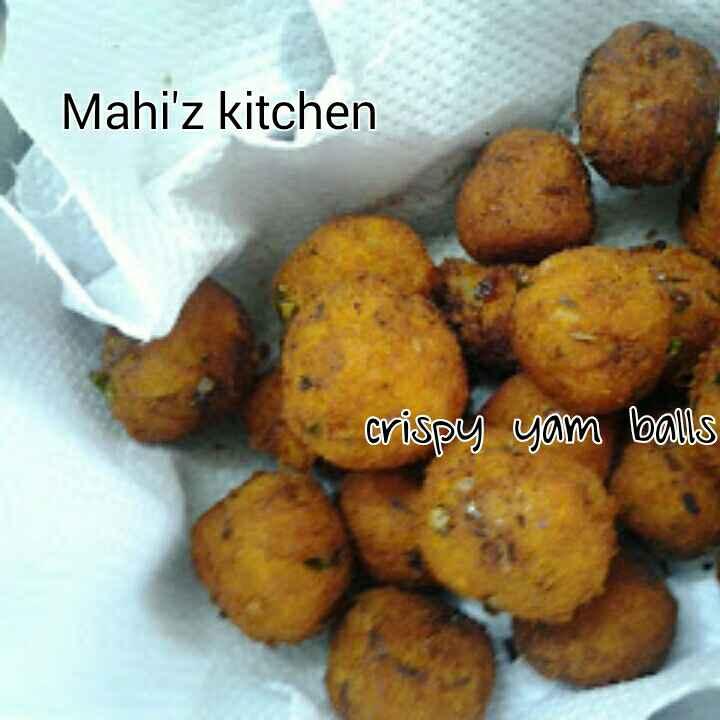 How to make Crispy Yam balls