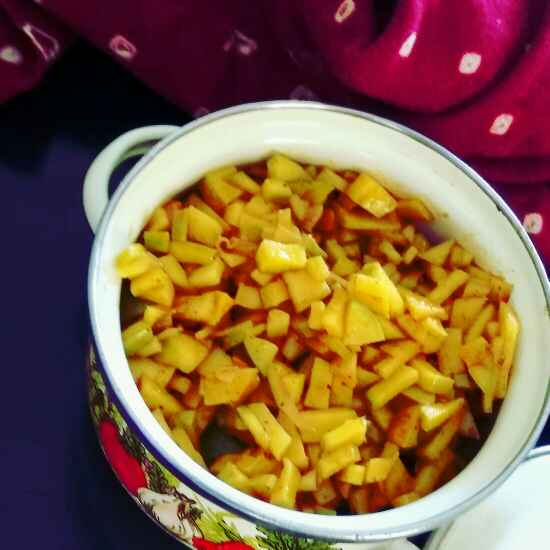 How to make Raw Mango Pickle
