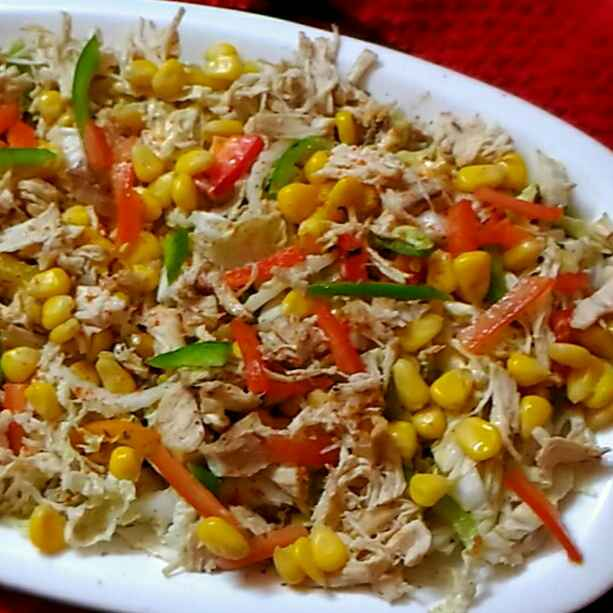 How to make Corn and Chicken salad