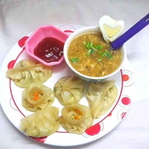 Photo of Egg momo with egg soup by Mahua Nath at BetterButter