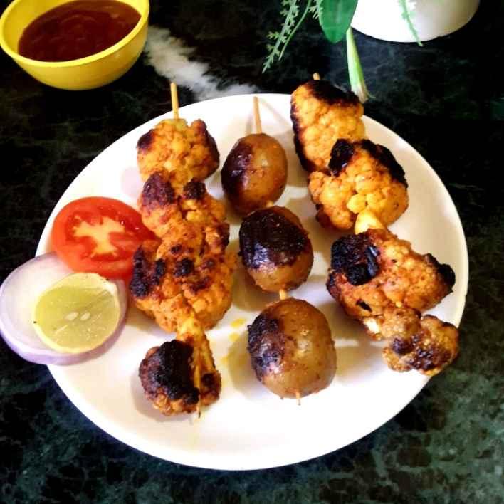 Photo of Cauliflower tandoori with potato by Mahua Nath at BetterButter