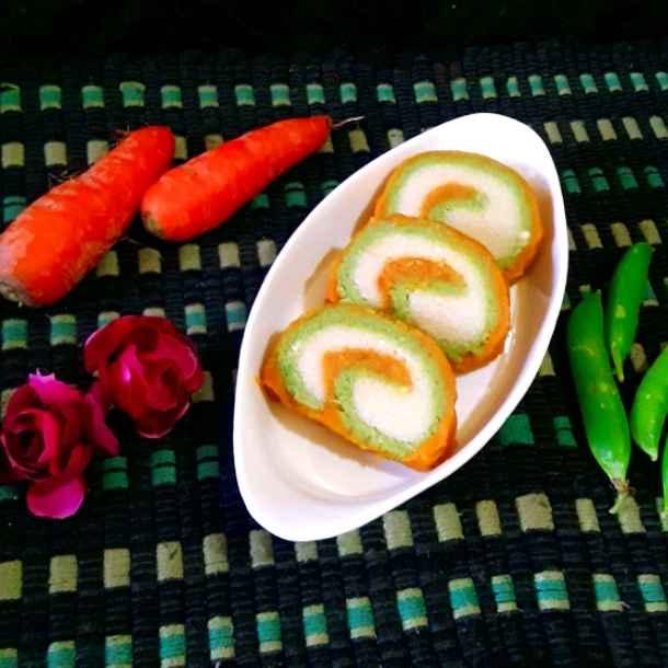 Photo of Gajor koraisutir swiss roll halua by Mahua Nath at BetterButter