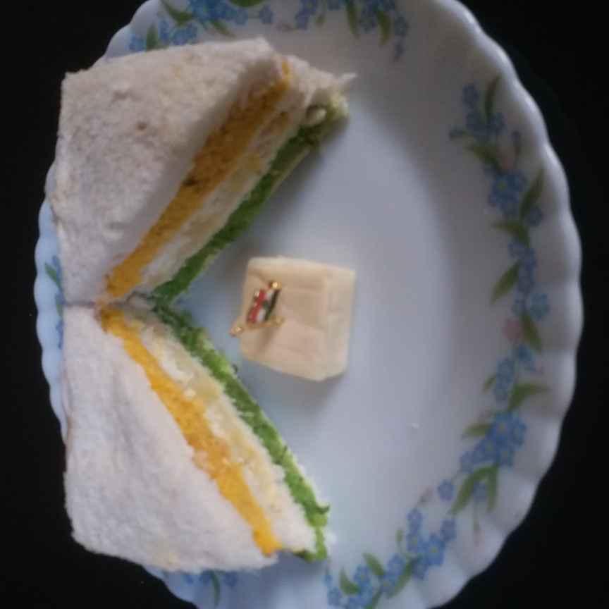 Photo of Tri colour sandwich by Mala Basu at BetterButter