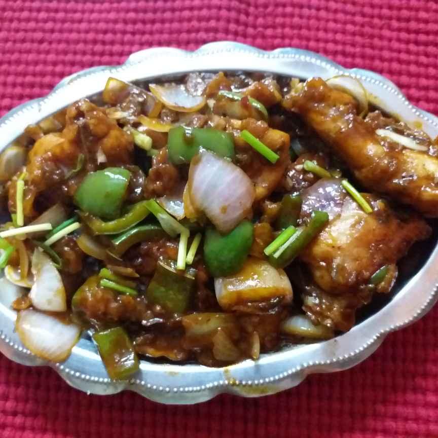 Photo of Chilli chiken ar ruti by Mala Basu at BetterButter