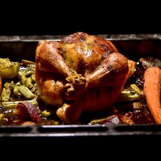 How to make Traditional Roast Chicken with Gravy & Roast potatoes!