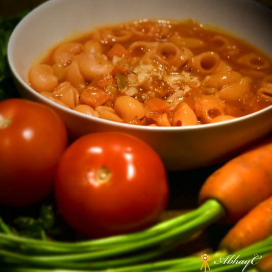 Photo of One-pot Minestrone soup with Pasta, Veggies and Italian sausage by Mallika Chaudhary at BetterButter