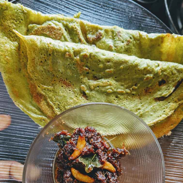 Photo of Kudiraivali Palak Dhal Dosa by Mallika Udayakumar at BetterButter