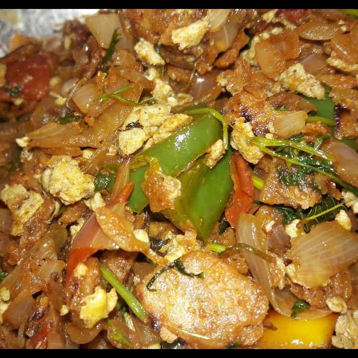 Photo of Chilli Egg Chapati by Mallika Udayakumar at BetterButter