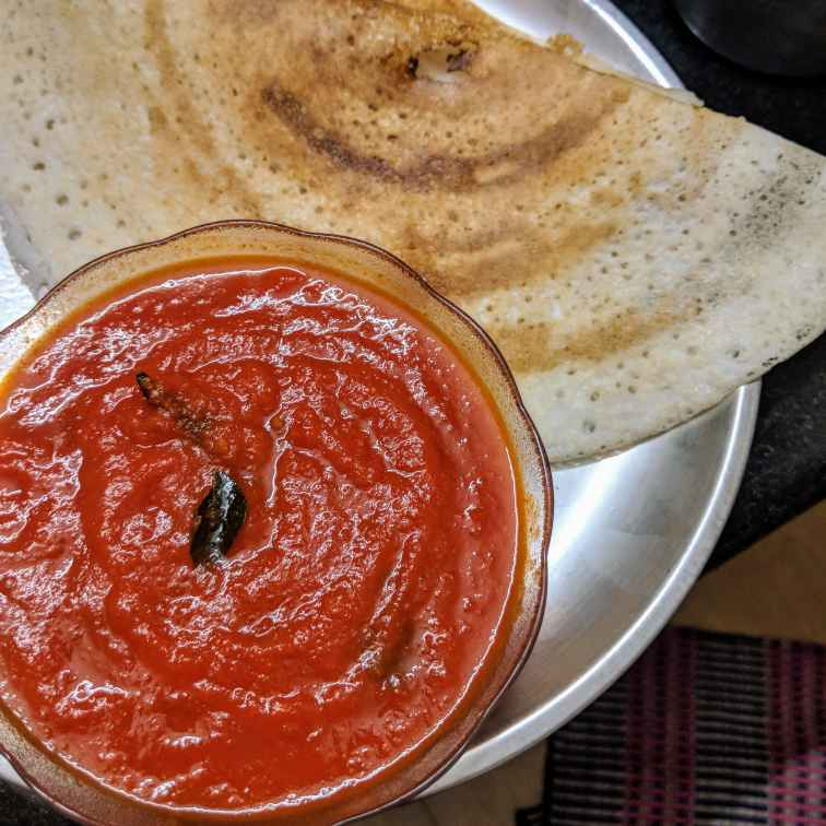 Photo of Tomato puree With Crispy Dosa(Quick & Easy Dinner To Make) by Mallika Udayakumar at BetterButter