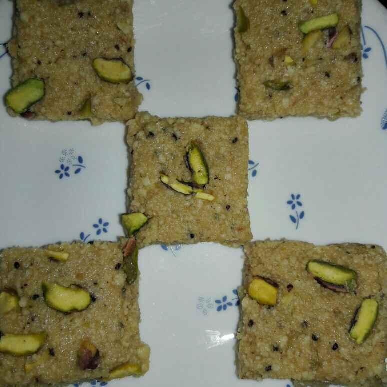 Photo of Kalakand with kiwi kiwi flavour by Mamta Joshi at BetterButter