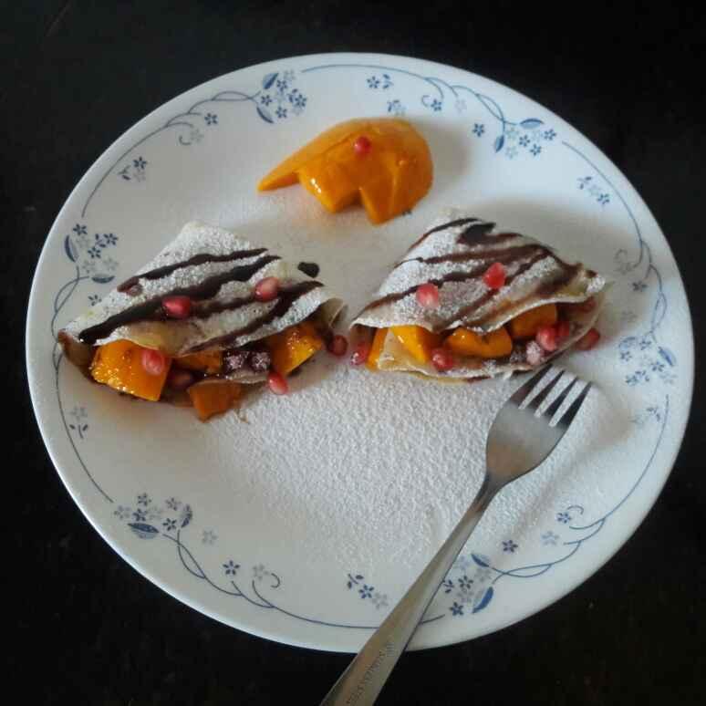 How to make चॉको मैंगो क्रेप्स