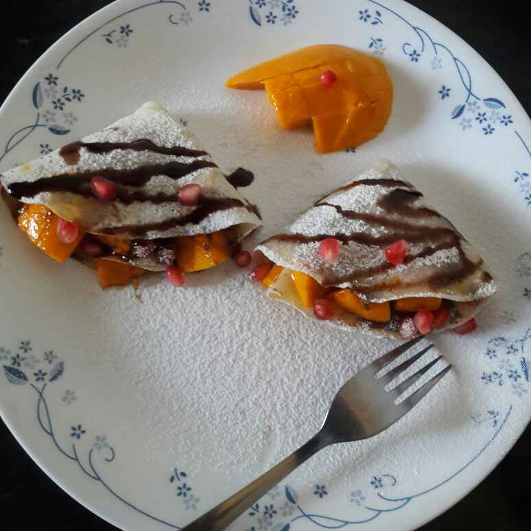 Photo of Choco mango crepes by Mamta Joshi at BetterButter