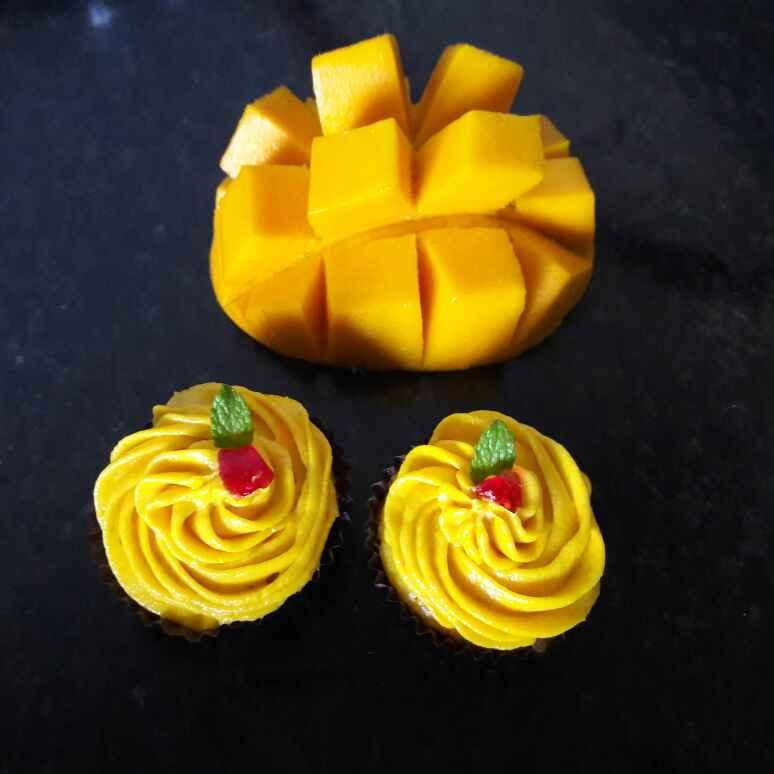 How to make Mini mango cup cake